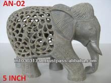 Stone Elephants sculptures