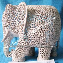 Soapstone Elephant Sculptures