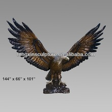 Interior Decor Casting Bronze Giant Eagle Figurine Statue--Bronze Animal Sculpture