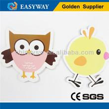 Custiom hawk and chick shape magnets for fridge