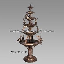 Garden Ornaments Bronze 5 Tier 6 Bowl Birds Fountain