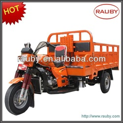 Gasoline 250cc cargo carrier tricycle/three wheel motorcycle