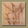 hecho a mano nuevo y moderno animales africanos elefantes de arte pintura al óleo sobre lienzo
