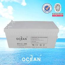 12V 200AH Ocean AGM lead acid Gel battery for solar including agm baterias rechargeable