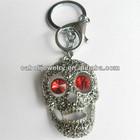 Large Zinc Alloy Crystal Skull Key Chain