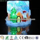 satan glass house decoration / Christmas colorful house with led light