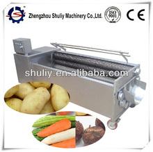 Brush type sweet potato washing and peeling machine/Manufacture of patato washing and peeling machine