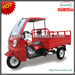 250cc air/water cooling semi-cabin three wheel motorcycle