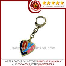 2015 top selling high quality heart shape metal key chain