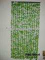 feuilles de plastique de bambou flower perlé rideau de bambou porte rideaux en tissu
