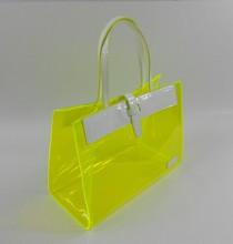 0.8mm clear PVC handbag,vinyl clear pvc tote bags,shiny pvc tote bag