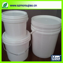food grade white pp plastic buckets for water or paint