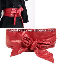 Fashion Women's leather Wrap Around Tie Corset Cinch Waist Belt Band Waistband