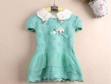 2013 WINTER KIDS GIRLS PRINCESS KNIT DRESSES