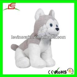 "LE h2063 cute NIC NAC 6"" pet baby husky puppy dog plush toy"