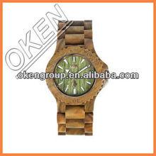 Wooden Wrist Watch Leather Business Watch Geneva Quartz Watch