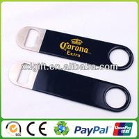 custom fashion metal bottle opener wrap in pvc (XD-4308)