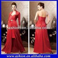 ME-134 Elegant detachable lace jacket mother of the bride dresses 2014 spring