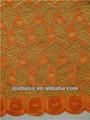 L'arrivée de nouveaux 2014 d'africaines double organza, dentelle mode dentelle organza pour le mariage et le parti p2950 orange