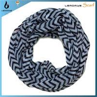 2014 fashion chevron black & white striped scarf