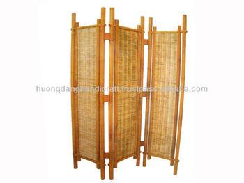 Bamboo screens 3 parts splitting room, room divider bamboo screens