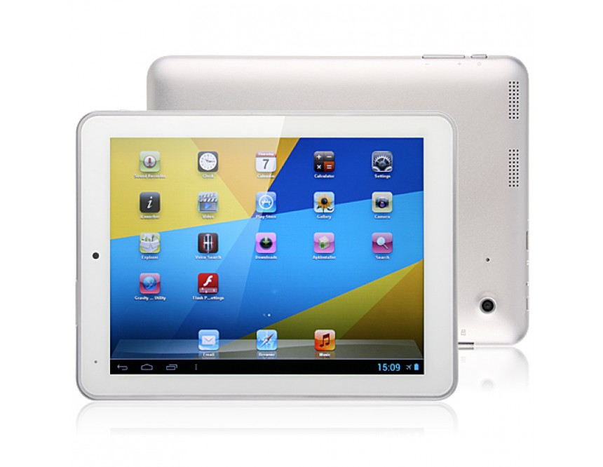 Top Sellers -iPPO V8 Tablet PC 8 Inch RK3066 Android 4.1 8GB Dual Camera HDMI Silver