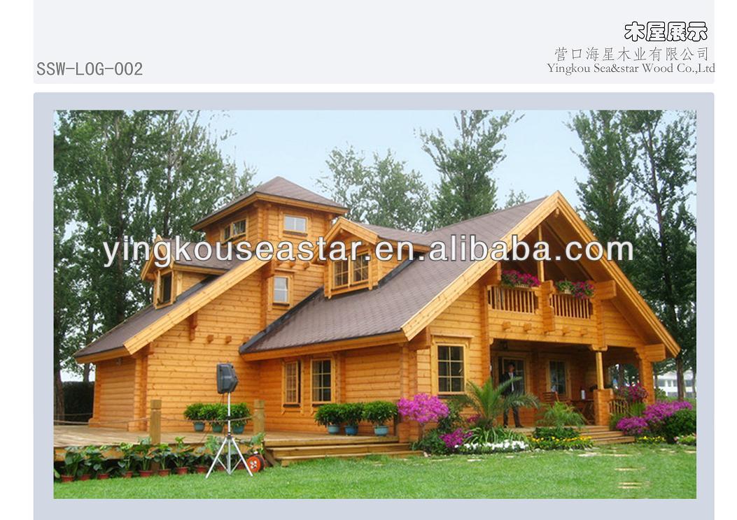 Canadian wood garden house prefabricated homes LOG-002