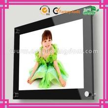 Wall mounted black acrylic photo frame