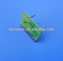 custom brand name printing metal plate for furniture/handbags