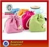 custom large felt holesale cotton fabric drawstring bag&red velvet christmas gift bag