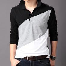 wholesale men's clothing new design cotton long sleeve golf shirt