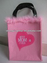 (VA-04B)Festive Love Mother's Days Felt Tote Bag/Felt Gift Handbag