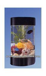 Manufacturer supplies exquisite cylinder acrylic fish aquarium