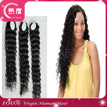 2014 the latest style all over the internet!Deep wave Brazilian hair extension is made in Shandong&alibaba express