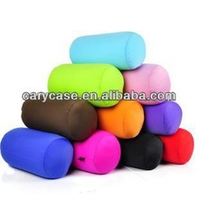 column shape bean bag pillows, microbeads neck or back support cushion