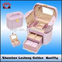 Fashionable jewelry case,pu leather jewellery boxes wholesale&multi-layer jewellery box
