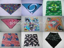 Custom Logo And Size 100% Cotton Square Bandana