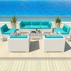 outdoor rattan white sectional sofa set