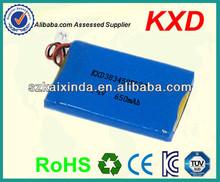 china small lipo battery pack 7.4v 650mah for garage door opener