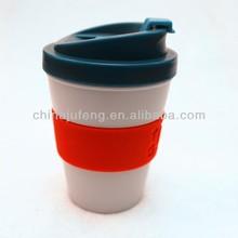 BPA free plastic reusable coffee cup