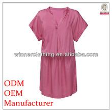 top fashion hgih quality solid color mandarin collar dress mandarin