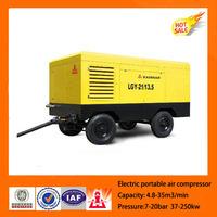 kaishan high quality ac power electrical portable screw power craft air compressor