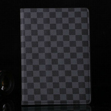 Gird Patterns Luxury stand leather case for ipad air