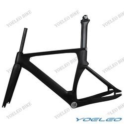 Super Light Chinese Bike Frame BB30/BSA,2014 Yoeleo 49/51/54/56cm Carbon Aero Track Frame with Fork