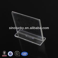 Manufacturer supplies elegant acrylic bend sign holder