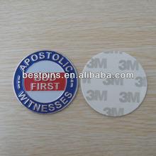 metal brand name car emblem adhesive on back