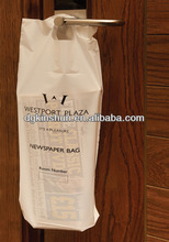 Personalized plastic hotel newspaper bag,hotel bag