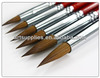 Transon 168 six pieces a setred handle point head weasel hair artist drawing paint brush