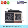 Fm. Tv/AM/sw 4 bande radio usb speaker lettore mp3 di legno