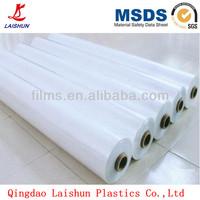 clear soft blue plastic PE protective film